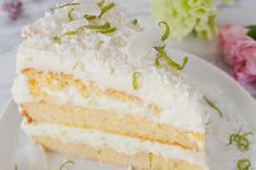 Kokoskake med lime — Magevennlig mat Fodmap, Vanilla Cake, Lime, Gluten, Baking, Desserts, Food, Tailgate Desserts, Limes