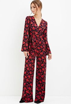 Pin for Later: 25 Cozy-Meets-Classy Outfits For a Wedding in the Woods  Forever 21 Floral Print Wide-Leg Jumpsuit ($30)