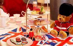 Afternoon Tea News: Very British Afternoon Tea, Royal Horseguards Hotel, London British Themed Rooms, English Afternoon Tea, British Party, Teddy Bear Birthday, Afternoon Tea Parties, Tea Party Birthday, London Hotels, Food Themes, High Tea