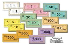 Monopoly Money, Amy Johnson, Race Around The World, Colored Paper, Print And Cut, Board Games, Create Your Own, Boards, Things To Sell