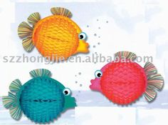 paper fish,decoration fish, fish honeycomb decoration\ paper decoration, View fish honeycomb decoration, Zhongjie, Zhong Jie Product Details from Shenzhen ...