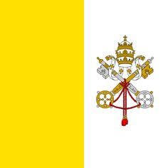 The flag of Vatican City was adopted on June the year Pope Pius XI signed the Lateran Treaty with Italy, creating a new independent state governed by the Holy See. The Vatican flag is modeled on the flag of the earlier Papal States. Catholic Books, Roman Catholic, Catholic Flag, Flags Of The World, We Are The World, Vatican City Flag, Christian Flag, Santa Sede, International Flags
