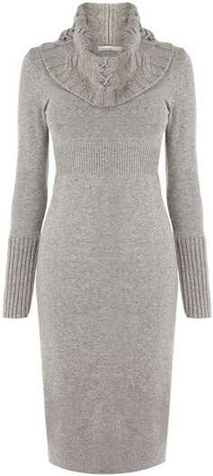 KAREN MILLEN Twisted Cable Knit Dress♥✤