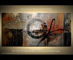 Original Abstract Modern Texture Painting Earth Tones by Nizamas