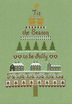 Buy The Christmas Tree Sampler Cross Stitch Kit Online at www.sewandso.co.uk