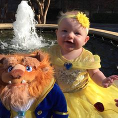 Beauty and the beast princess baby costume Gorgeous Savannah halloween 2016
