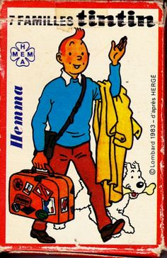 Tintin game of 7 families - 1983