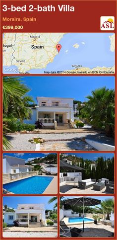 3-bed 2-bath Villa in Moraira, Spain ►€399,000 #PropertyForSaleInSpain