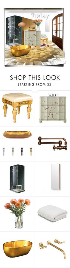 """Spa Master Bath"" by nusongbird ❤ liked on Polyvore featuring interior, interiors, interior design, home, home decor, interior decorating, J. Robert Scott, Home Decorators Collection, Kraus and WALL"
