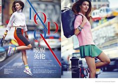 *~* active and type // kate king colorful fashion shoot1 Kate King Wears Colorful Fashion for BAZAAR China by James Meakin