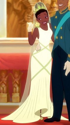 Tiana in her wedding dress