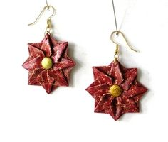 Star Origami Earrings