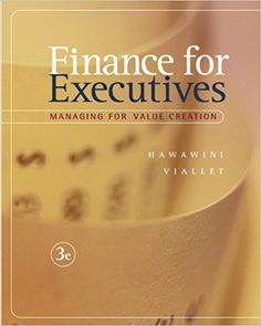 Finance For Executives Managing For Value Creation, Books PDF