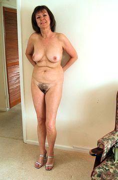 Mature older nude women art