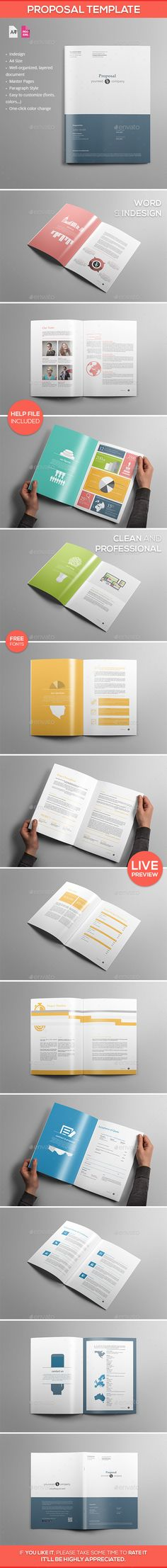 Business Proposal Template Single Page Us Letter  Proposals