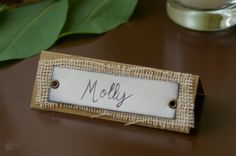 Rustic Place Cards Burlap and Kraft Handmade