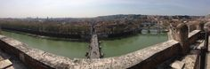Climb up to the top of Castel Sant'Angelo for a sweeping view of Rome. The building has had multiple purposes throughout the years, including being used as a fortress for the Pope.