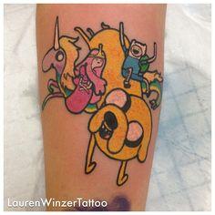 Adventure time tattoo by Davison Davison Winzer Pretty Tattoos, Love Tattoos, Beautiful Tattoos, Amazing Tattoos, Piercing Tattoo, I Tattoo, Piercings, Adventure Time Tattoo, Geek Gadgets