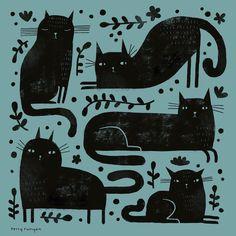 "1,325 Likes, 19 Comments - Terry Runyan (@terryrunyan) on Instagram: ""Black Cat Pattern. ⚫️⚫️⚫️ •Link Bio-Shops• . . #blackcat #blackcatsofinstagram #cat…"""