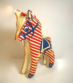 Vintage stuffed pony infant / baby toy.