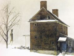 Andrew Wyeth - First Snow (Groundhog Day Study)