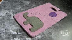 iPhone 6 sleeve,iPhone elephant cover, felt elephant sleeve,elephant phone case by NatmadeCrafts on Etsy