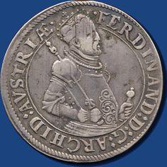 House Habsburg, Ezhzg. Ferdinand II. ( 1564- 1595 ), Reichstaler o. J., Hall, slight Walzenspuren, Vogelhuber 87 ( variety ähnl. 5 )    Dealer  Darmstädter stamp auction    Auction  Minimum Bid:  120.00EUR