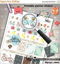 60%OFF - Floral Stickers, Printable Planner Stickers, Vintage Bike Stickers, Flower Stickers, Bird Stickers, Erin Condren, Planner Accessori