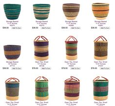 African basket - as laundry baskets