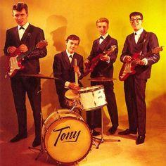 THE SHADOWS - The original Shadows. LR: Bruce Welch, Tony Meehan, Jet Harris and Hank Marvin