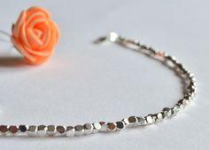 Bracciale argento 925,cubo argento,set di bracciali,bracciale unisex,gioiello argento,regalo,fatto a mano,gioiello italiano,Made in Italy di VMJewelryDesign su Etsy