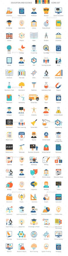 Education and Science Colorful Icons #design Download: http://graphicriver.net/item/education-and-science-colorful-icons/14066515?ref=ksioks