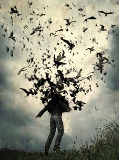 """♂ Dream Imagination Surrealism Surreal art Tomasz Wieja; Giclée, 2011, Photography """".. and Fly (Edition of 9)"""" man turn to birds"""