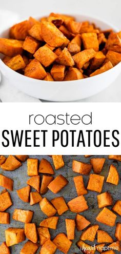 7 reviews · 40 minutes · Vegan Gluten free Paleo · Serves 6 · Easy oven roasted sweet potatoes that are perfectly crispy, caramelized and super flavorful. Made with only 5 simple ingredients! #sweetpotatoes #potatoes #roasted #roastedpotatoes… More