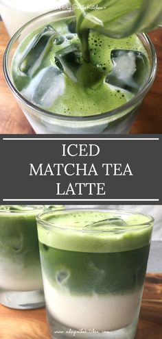 All you need are a few minutes and 3 ingredients to enjoy this refreshing iced matcha tea latte that also looks amazing! Not only is it a delicious pick-me-up any morning or afternoon, it's also a health powerhouse of a drink! Tea Recipes, Healthy Recipes, Breakfast Recipes, Healthy Food, Healthy Eating, Yummy Drinks, Cold Drinks, Fun Drinks, Beverages