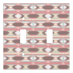 Soft color tribal abstract pattern light switch cover