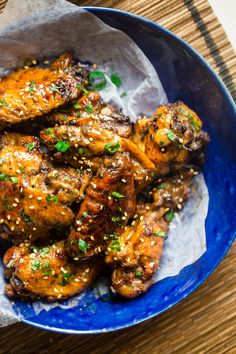 Whole30 Sticky Pineapple 5 Spice Slow Cooker Chicken Wings recipe via @FoodFaithFit