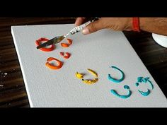Easy Abstract Painting/Fun with Acrylic Paints/Relaxing demo/Project 365...