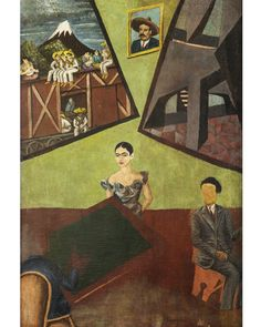 The avant-garde Pancho Villa and Adelita (unfinished) of 1927 indicates Kahlo's interest in Mexican art trends before she met Rivera (Credit: akg-images) Frida Kahlo Exhibit, Diego Rivera Frida Kahlo, Frida And Diego, Pancho Villa, Frida Paintings, Mexican Paintings, Oil Paintings, Frida Art, Social Art
