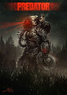 "redskullspage: "" The Predator! grrrrr… by Yaron Granot """