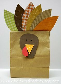 Thanksgiving Craft - It would be fun to write things we are thankful for on the feathers.