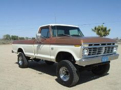 1974 f250 highboy truck | 1975 F250 Highboy original bronze and white 360 automatic 83k actual ...