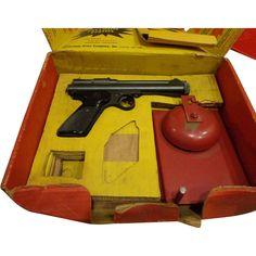 1950s Vintage Collectible Crosman Pellet Gun .22 Caliber w/ Box and Bell #VintageSports  #rubylane