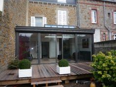 Véranda véranda toiture plate Alu Bretagne Service - Fabricant véranda aluminium