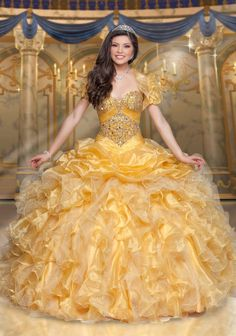 60526c4ccbf Disney Royal Ball Quinceanera Dress Belle Style 41096