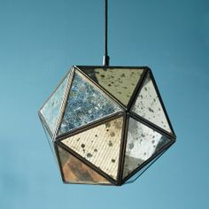 Foxed Mirror Faceted Pendant | west elm