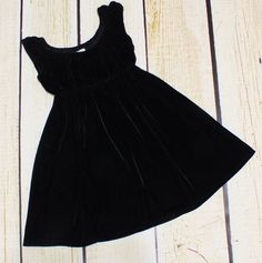EUC 6 7 Peek Fleur des Champs boutique designer black velvet empire waist Dress  | eBay