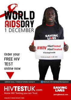 Thanks to Bafetimbi Gomez @BafGomis of @SwansOfficial for supporting @savinglivesuk #WorldAIDSDay #StopTheStigma campaign www.savinglivesuk.com www.HIVTESTUK.com