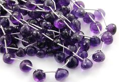 Dark Purple African Amethyst Faceted Onion Beads by Beadspoint, $29.95