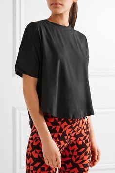 Nike - Nikelab Essentials Mesh-paneled Dri-fit Stretch-jersey T-shirt - Black - x large